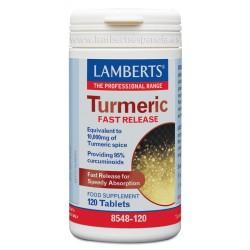 LAMBERTS Cúrcuma liberación rápida, 60 ó 120 comprimidos