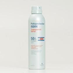 Fotoprotector Isdin transparent spray SPF50+, 250ml.